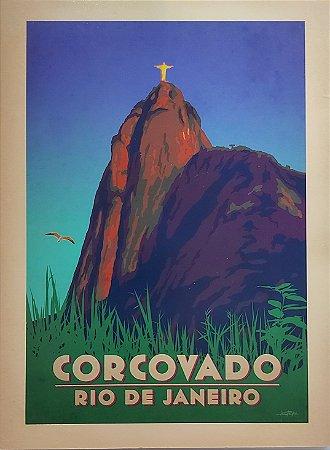 Placa decorativa Corcovado