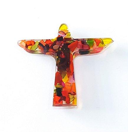 Imã Cristo colorido