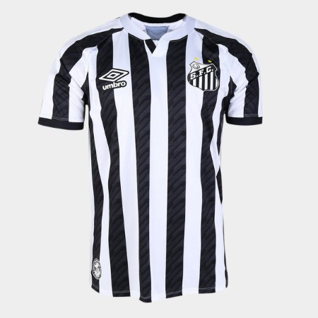 Camisa Santos II 20/21 s/n° Torcedor Umbro Masculina - Branco e Preto