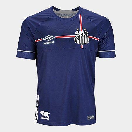 Camisa Santos 2018 s/n° The Kingdom - Torcedor Umbro Masculina - Marinho e Branco