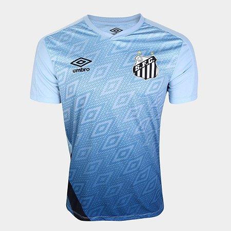 Camisa Santos Treino 20/21 Umbro Masculina - Azul e Preto
