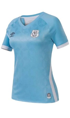 Camisa Santos III 20/21 s/n° Torcedor Umbro Feminina - Azul e Branco