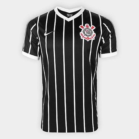 Camisa Corinthians II 20/21 s/n° Torcedor Nike Masculina - Preto e Branco