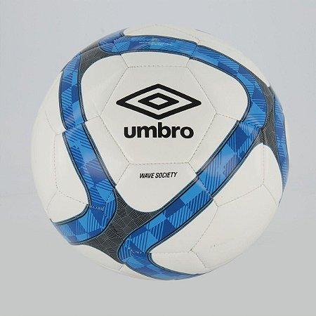 Bola Futebol Society Umbro Wave Branca e Azul
