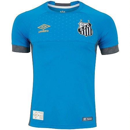 Camisa Santos Goleiro 2019 azul / cinza