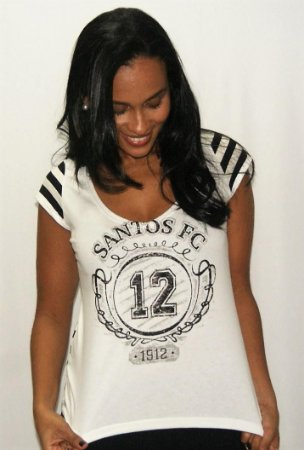 Camisa Santos Feminina Navy Braziline