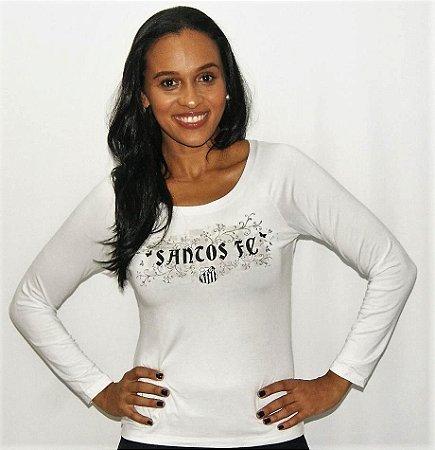 Camisa Santos Feminina Manga Longa Braziline