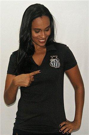 Camisa Santos Feminina Preta Coroa Nike