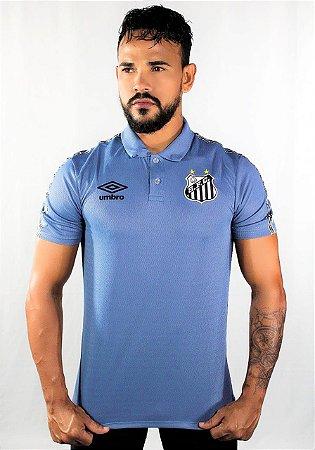 Camisa Polo Santos Viagem 2021 Umbro Azul
