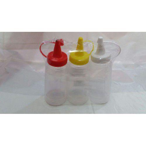 Kit Bisnaga de Plástico para Ketchup/Mostarda e Maionese