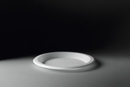 Prato plástico fundo 12cm branco - Copobras