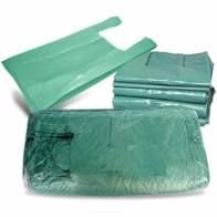 Sacola Alça Camiseta Reciclada Verde 45x60 1Kg
