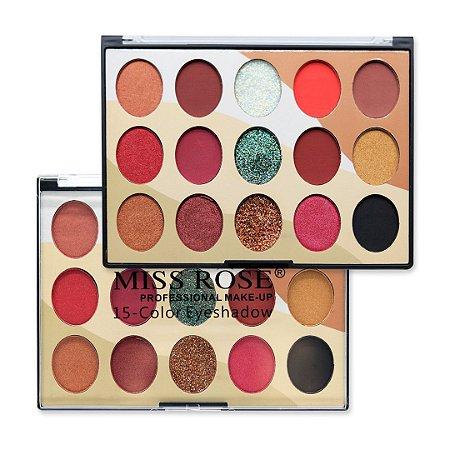 Paleta de Sombras Miss Rose Professional Make-up