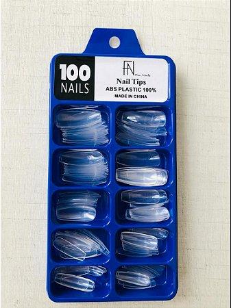 Tips Fan Nails Transparente c/ 100
