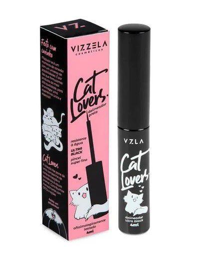 Delineador Preto Cat Lovers Vizzela