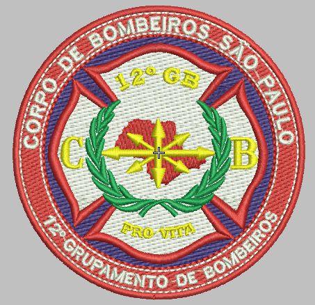 BRASÃO REDONDO 12° GRUPAMENTO DE BOMBEIRO