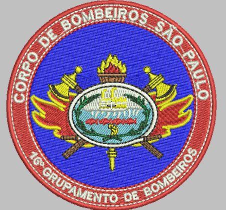 BRASÃO REDONDO 16° GRUPAMENTO DE BOMBEIRO