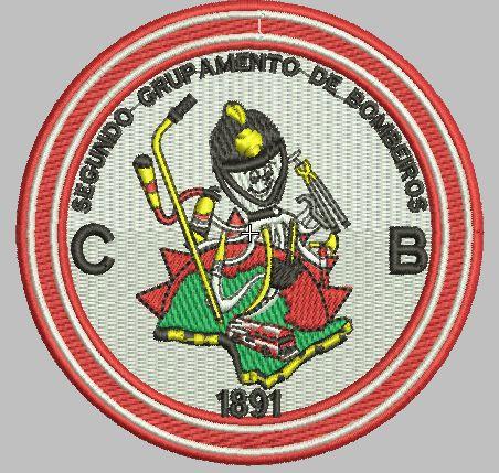 BRASÃO REDONDO 2° GRUPAMENTO DE BOMBEIRO