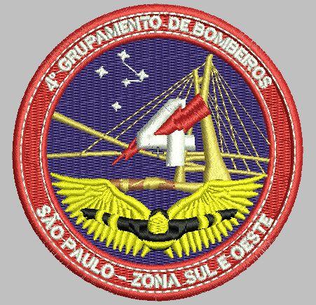 BRASÃO REDONDO 4° GRUPAMENTO DE BOMBEIRO