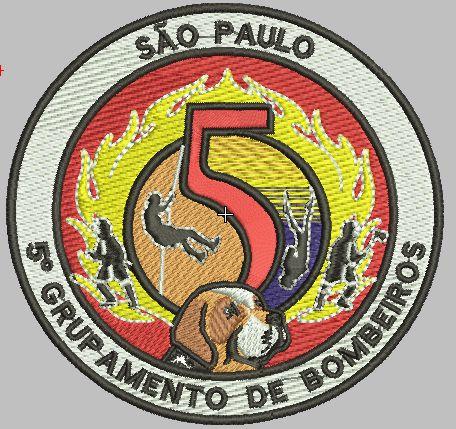 BRASÃO REDONDO 5° GRUPAMENTO DE BOMBEIRO