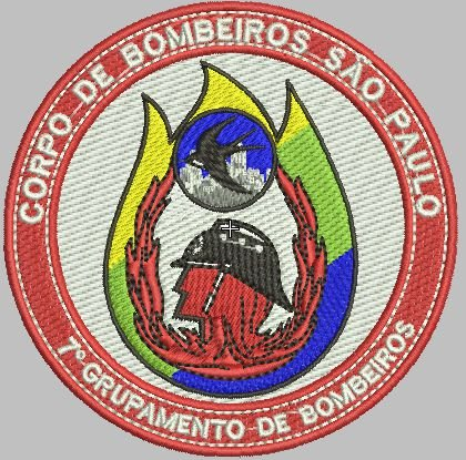 BRASÃO REDONDO 7° GRUPAMENTO DE BOMBEIRO BORDADO