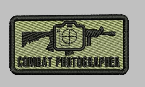 PATCH COMBAT PHOTOGRAPHER (NAVI MILITAR)