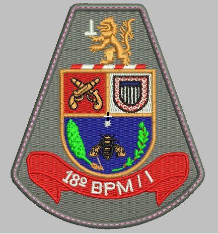 BRASÃO 18 BPM/I POLÍCIA MILITAR PMESP