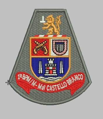 BRASÃO 1 BPM/M POLICIA MILITAR PMESP
