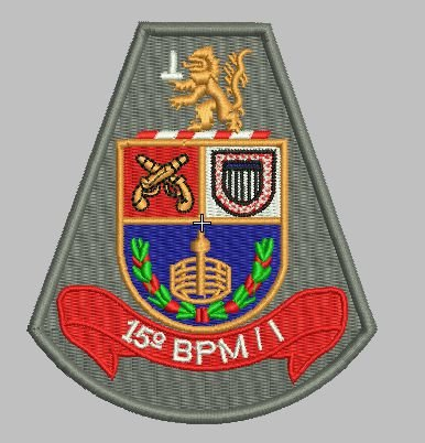 BRASÃO 15 BPM/I POLÍCIA MILITAR INTERIOR