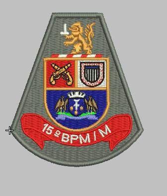 BRASÃO 15 BPM/M POLÍCIA MILITAR