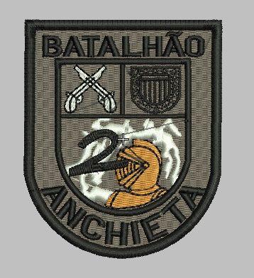 BRASÃO 2 CHOQUE CAMUFLADO / BATALHÃO ANCHIETA POLÍCIA MILITAR