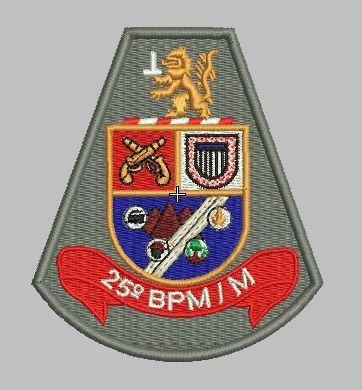 BRASÃO 25 BPM/M POLÍCIA MILITAR
