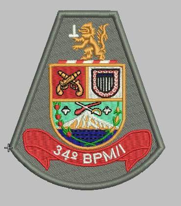 BRASÃO 34 BPM/I POLÍCIA MILITAR