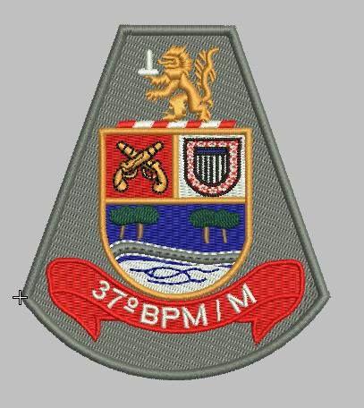 BRASÃO 37 BPM/M POLÍCIA MILITAR