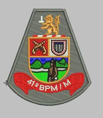 BRASÃO 41 BPM/M POLÍCIA MILITAR