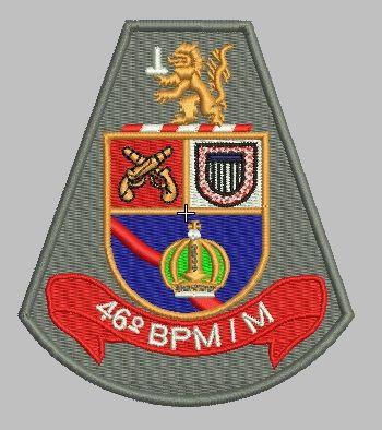 BRASÃO 46 BPM/M POLÍCIA MILITAR