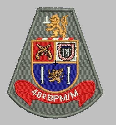 BRASÃO 48 BPM/M POLÍCIA MILITAR