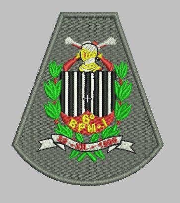 BRASÃO 6 BPM/I POLÍCIA MILITAR (BORDADO MILITAR)