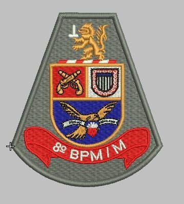 BRASÃO 8 BPM/M POLÍCIA MILITAR