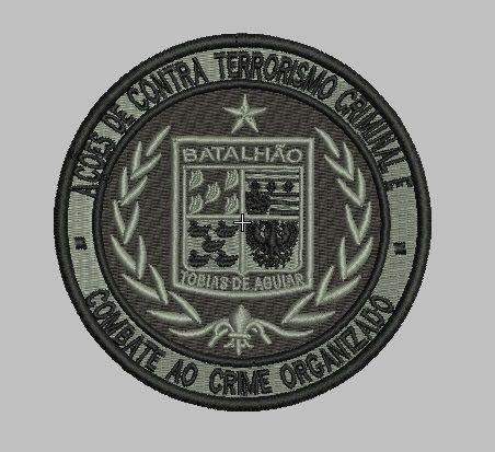 BRASÃO AÇÕES CONTRA TERRORISMO / ROTA / CAMUFLADO