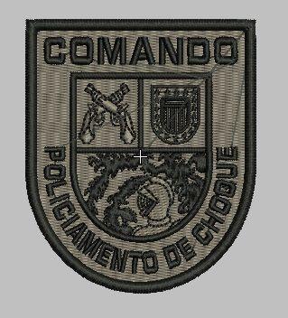 BRASÃO COMANDO DE POLICIAMENTO CHOQUE / CPCQH / CAMUFLADO