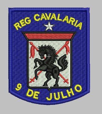 BRASÃO REGIMENTO 9 DE JULHO / CAVALARIA