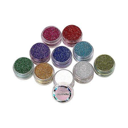 Kit Glitter Cremoso (10 Unidades) - Colormake
