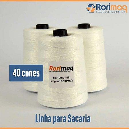Fio/Linha para costurar sacaria - 40 cones - 10kg