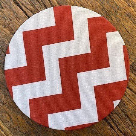 Sousplat Em Mdf Jogo Americano Cozinha Branco Listras Vermelhas