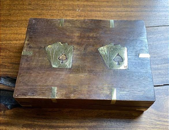 Caixa para cartas de baralho p965