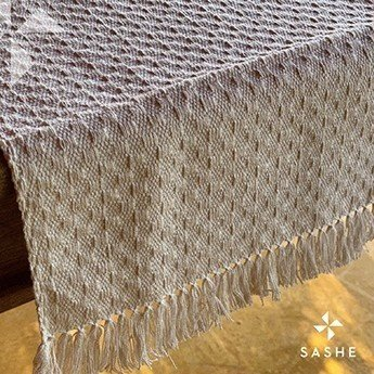 Caminho de mesa Crú em algodão