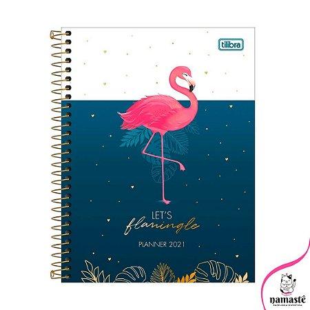 Planner 2021 Flamingo, Coleção Aloha, Tilibra