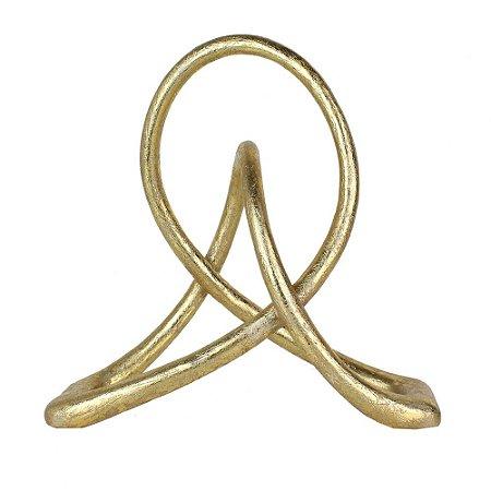 Peça decorativa de resina dourado