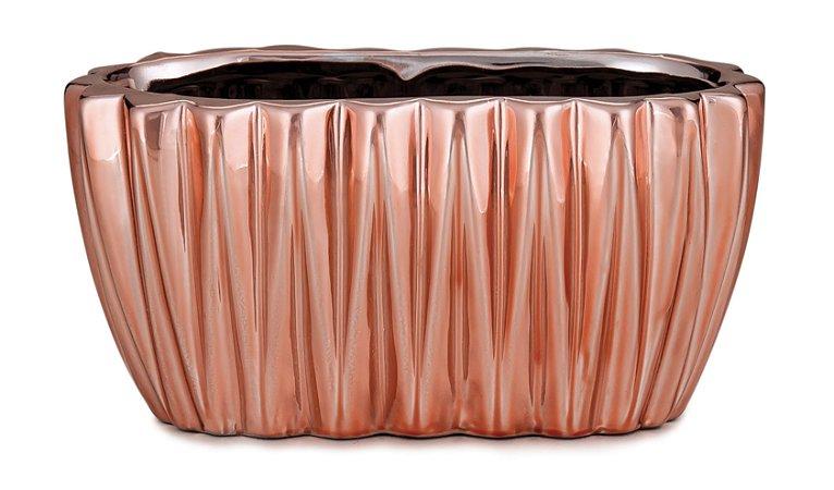 Floreira Rose Gold em ceramica P